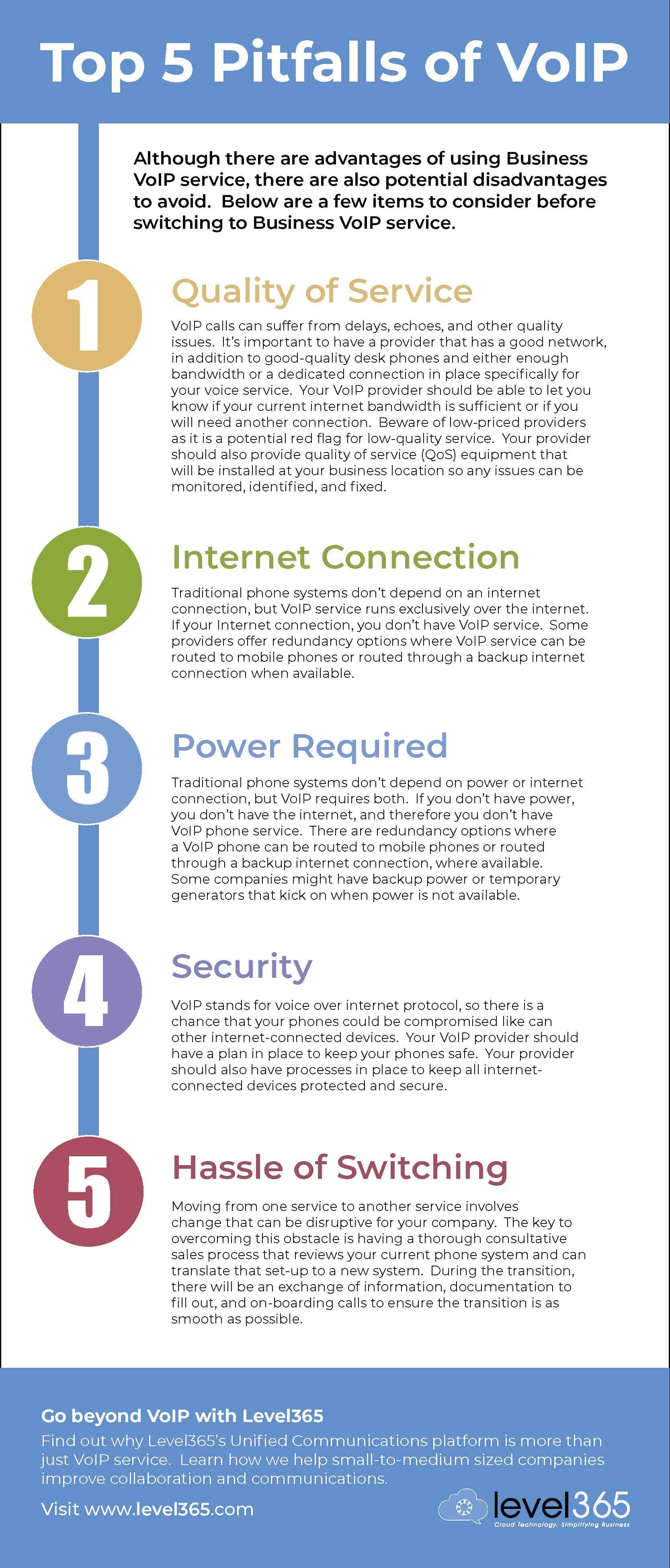 Infographic on Top 5 Pitfalls of Business VoIP