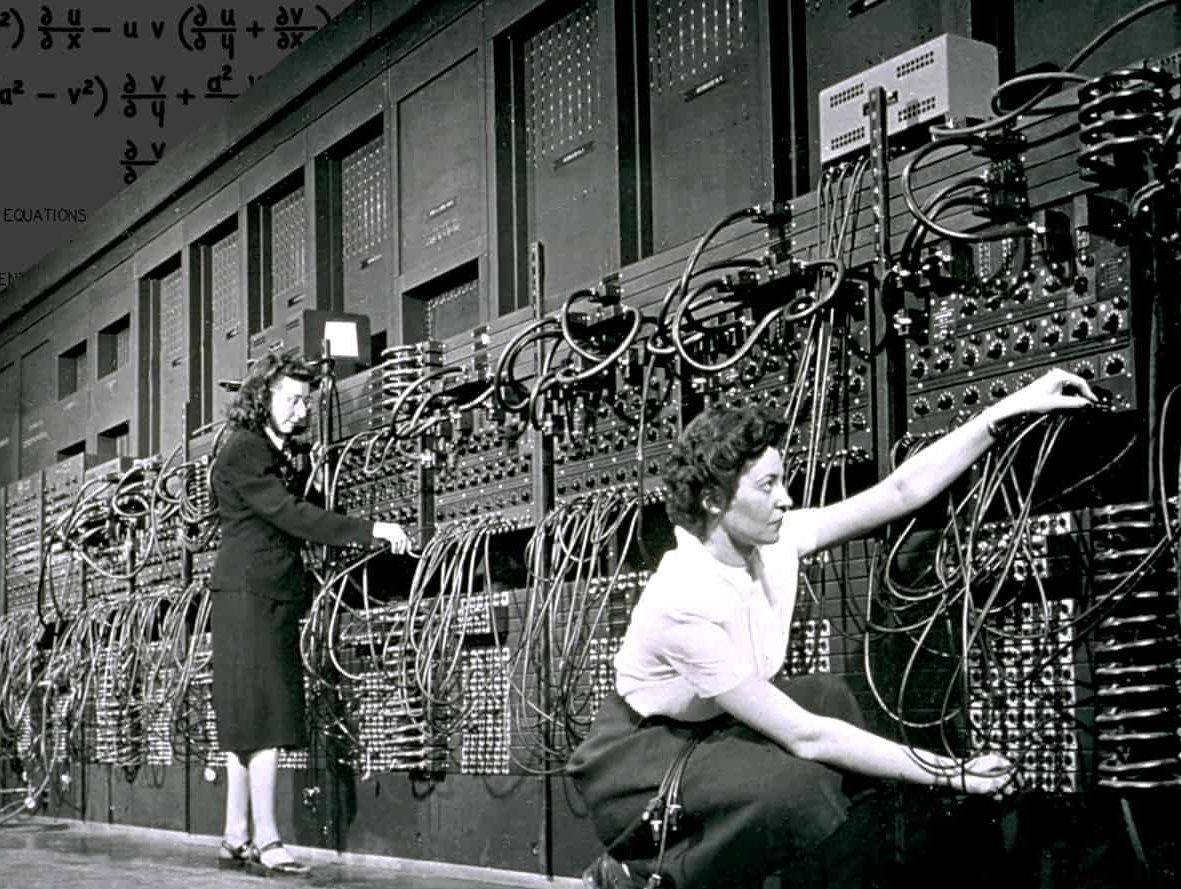 Picture 2: Two of the ENIAC programmers. (IEEE Spectrum)